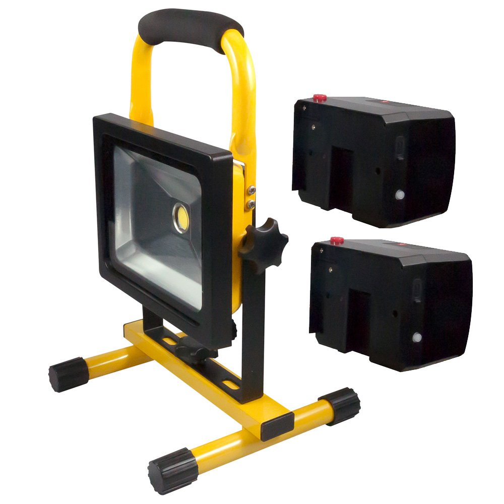 Turbo LED Wechsel-Akku Strahler Set 20W Handlampe Arbeitsleuchte  RF46