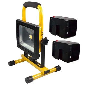 Neu LED Wechsel-Akku Strahler Set 20W Handlampe Arbeitsleuchte  JL25