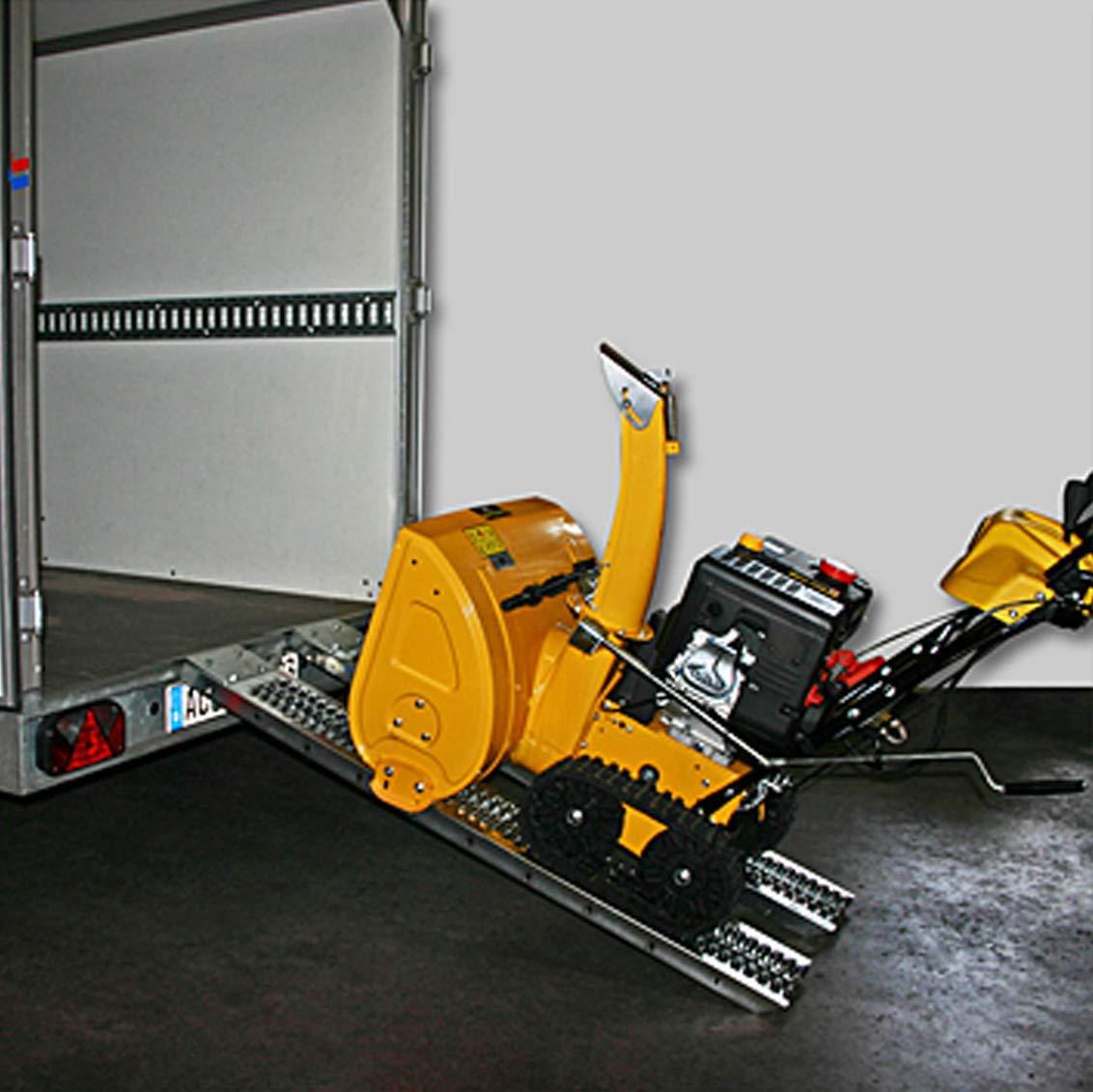 WilTec Rampa de Carga Acero hasta 450kg Doble Carril Maquinas Segadora Tractor Remolque Motocultor