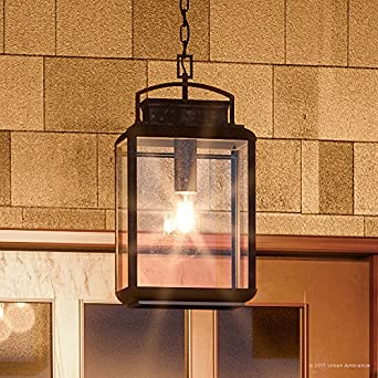 Luxury Craftsman Outdoor Pendant Light Large Size 21u0026quot;H x 10u0026quot;W & Luxury Craftsman Outdoor Pendant Light Large Size: 21