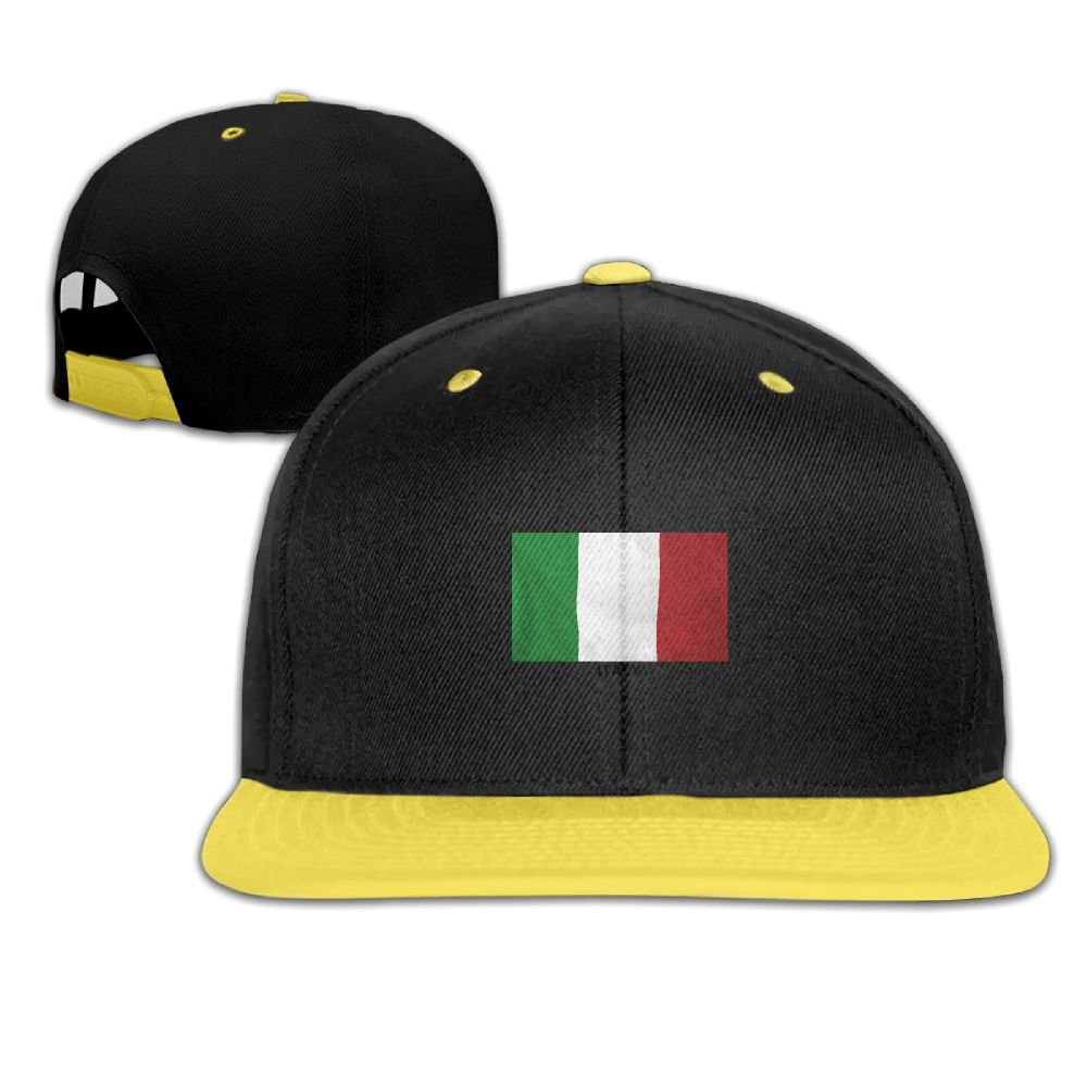 GUOFULIN Italy Italy Flag Adjustable Snapback Kids Hip Hop Hat Baseball Cap