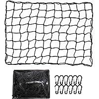 ValueHall Cargo Net Heavy Duty Truck Bed Net 4 x 6 feet Stretches to 8 x 12 feet Cargo Net for Truck Bed Cargo Net with…