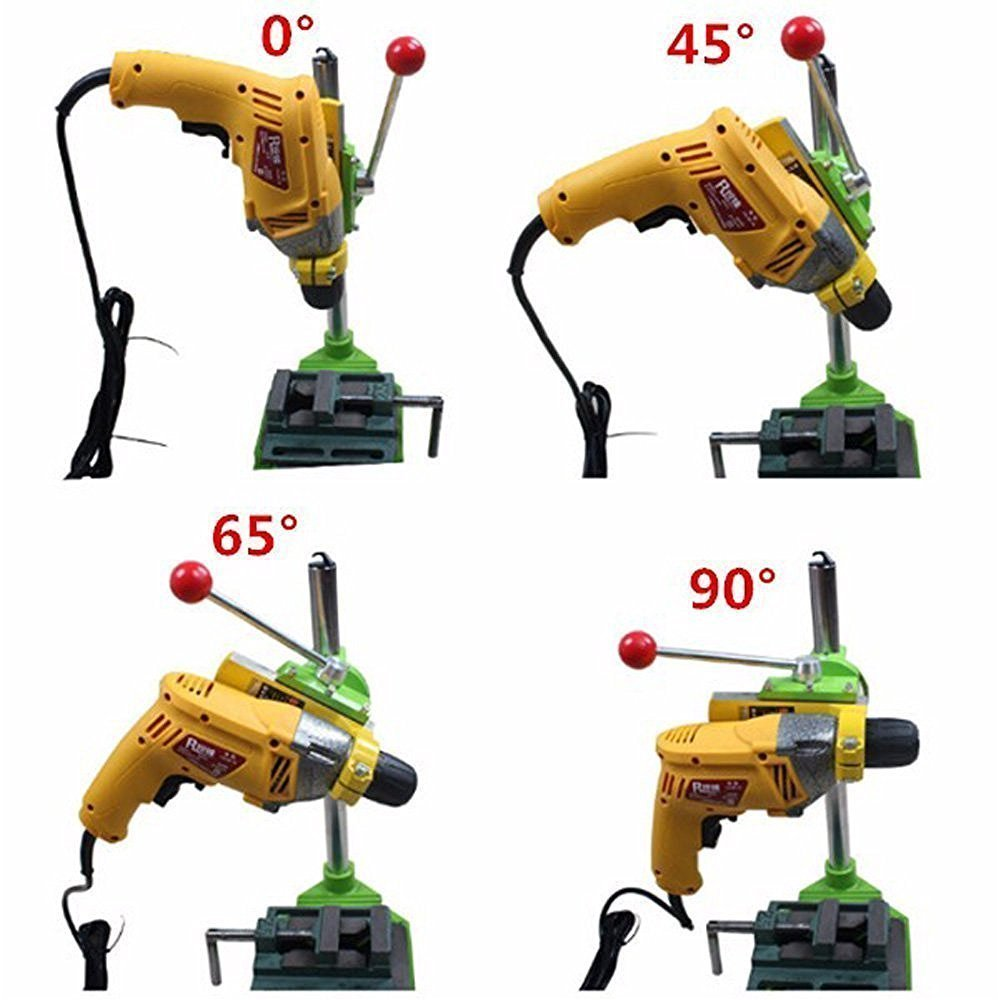 Xiangtat Bench Drill Stand/Press Mini Electric Drill Carrier Bracket 90° Rotating Fixed Frame by Xiangat (Image #7)