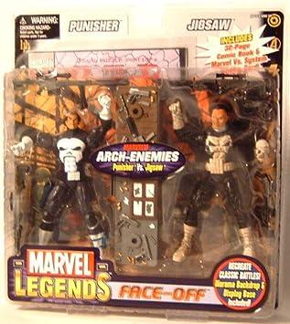 Marvel Legends Face Off Series 2 Punisher vs. Jigsaw Figure 2-Pack ...