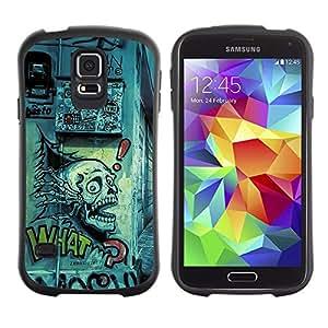Paccase / Suave TPU GEL Caso Carcasa de Protección Funda para - Grafiti Street Art Drawing Skull Quote Slogan - Samsung Galaxy S5 SM-G900