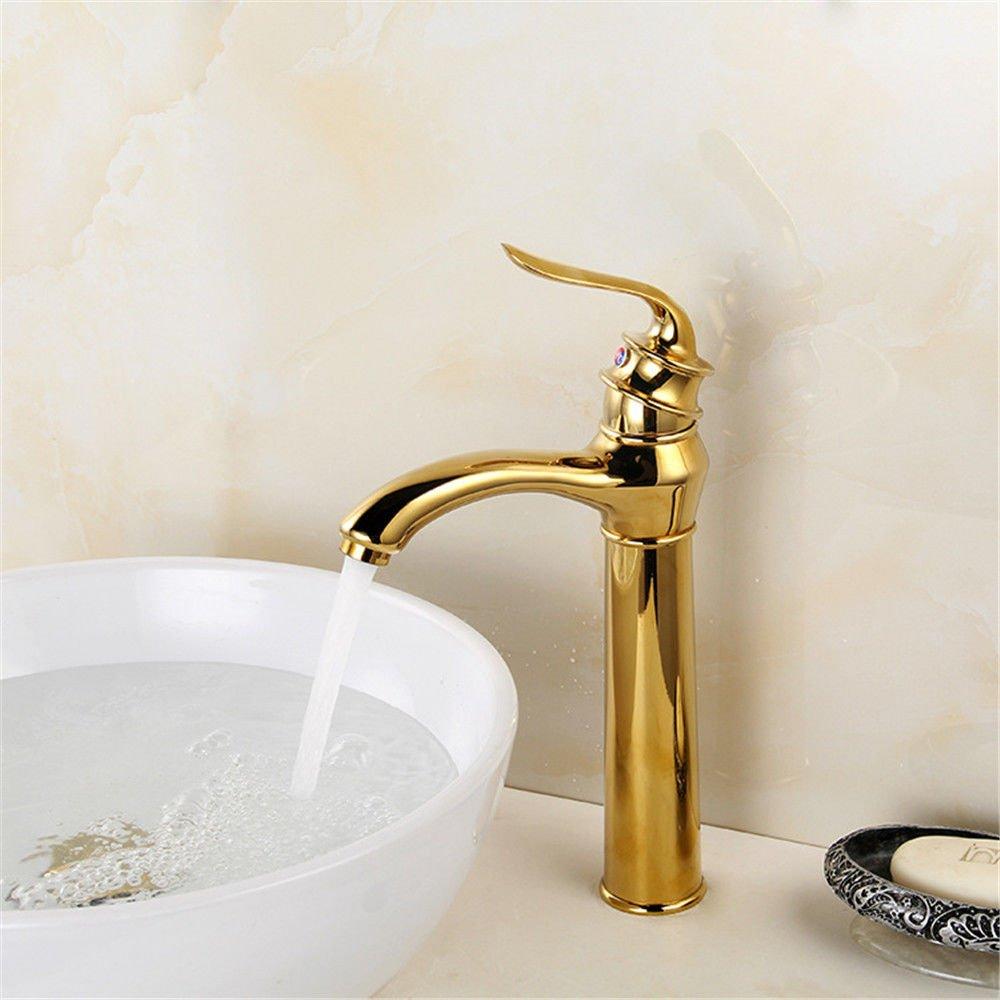 NewBorn Faucet Wasserhähne Warmes und Kaltes Wasser Größe Qualität Höhe Doppelte Goldconsole Becken vor Kai-Type Wasserhähne