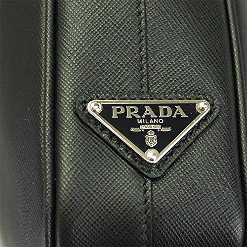 Prada sac porte-documents homme en cuir noir