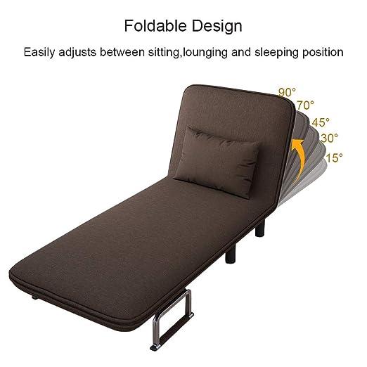 Amazon.com: Swyss - Sofá cama convertible con reposabrazos ...