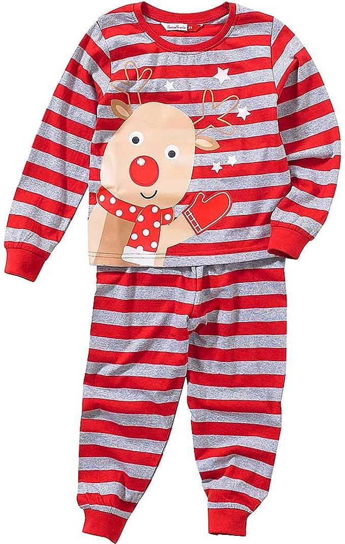 Ensemble Pyjama De Noël Rayé Garçon Et Fille Renne De Noël Rouge Gris 2 3 Ans Amazon Fr Vêtements Et Accessoires