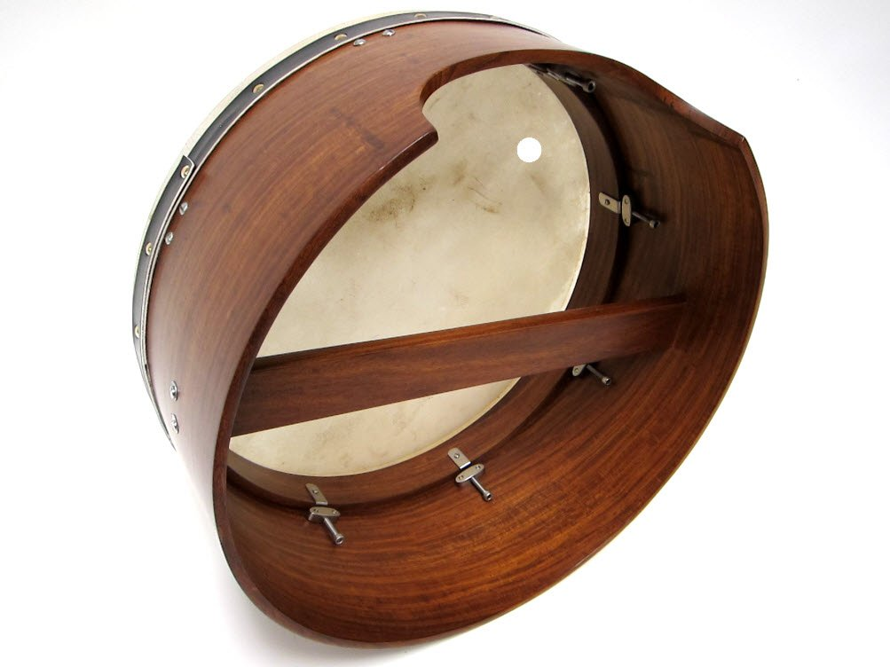 Roosebeck BTD6D Inside Tunable Bodhran with Single Removable Bar, 16 x 7 Inches