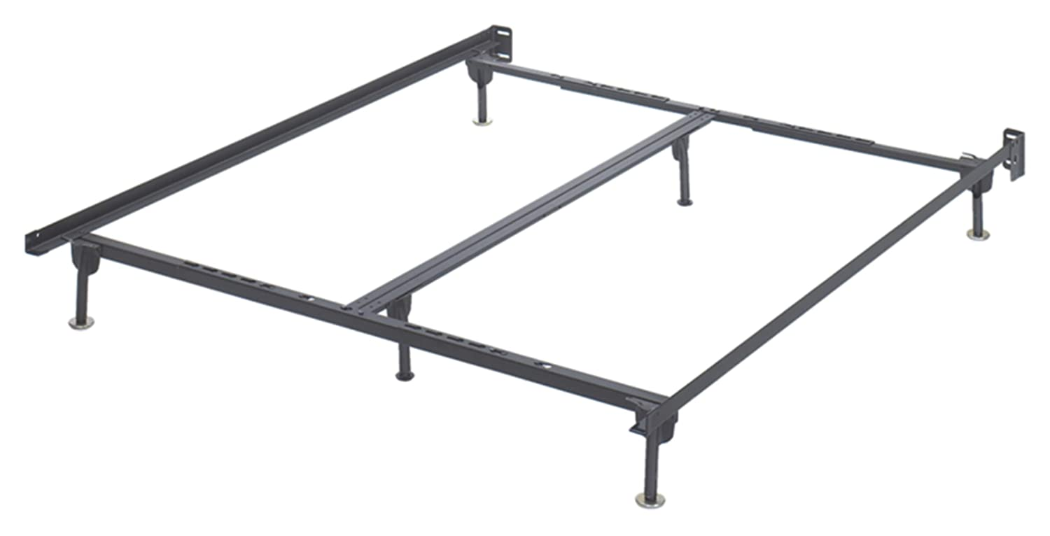 Ashley Furniture Signature Design - Frames and Rails Bolt on Bed Frame Queen/King/California King Size - Contemporary - Component Piece - Black