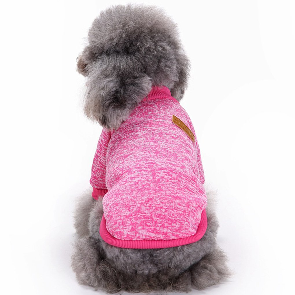 pink red X-Small pink red X-Small Fashion Focus On Pet Dog Clothes Knitwear Dog Sweater Soft Thickening Warm Pup Dogs Shirt Winter Puppy Sweater for Dogs (pink red, XS)