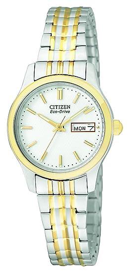 Citizen EW3154-90A - Reloj de cuarzo para mujer, correa de acero inoxidable