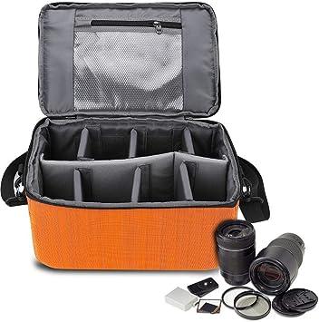 Amazon Com Acouto Camera Storage Bag Nylon Large Waterproof Camera Case Insert Insert Partition Handle Camera Bag Lens Case Pouch Protective Camera Bag Camera Photo