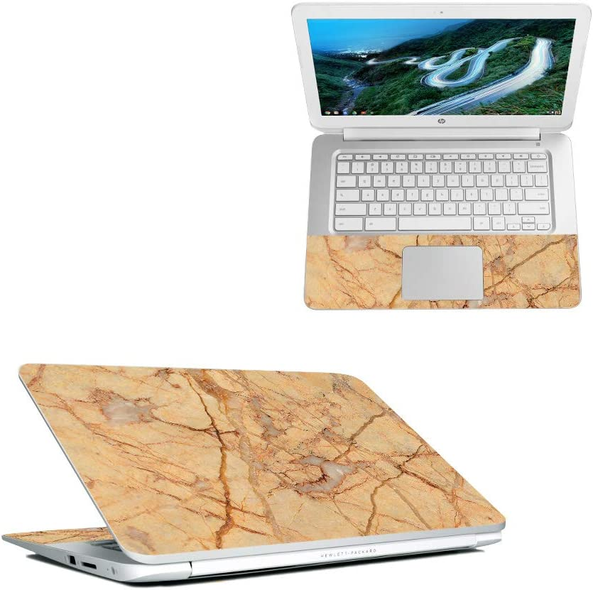 "MightySkins Skin Compatible with HP Chromebook 14"" (2018) - Amber Marble 