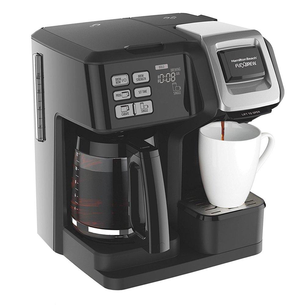 Hamilton Beach FlexBrew 2-Way Brewer Programmable Coffee Maker 49976 with Extended Warranty