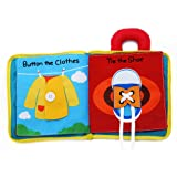 Beiens 3D Cloth Book for Babies & Toddlers Early Education Development Children Basic Skill Learning Activity