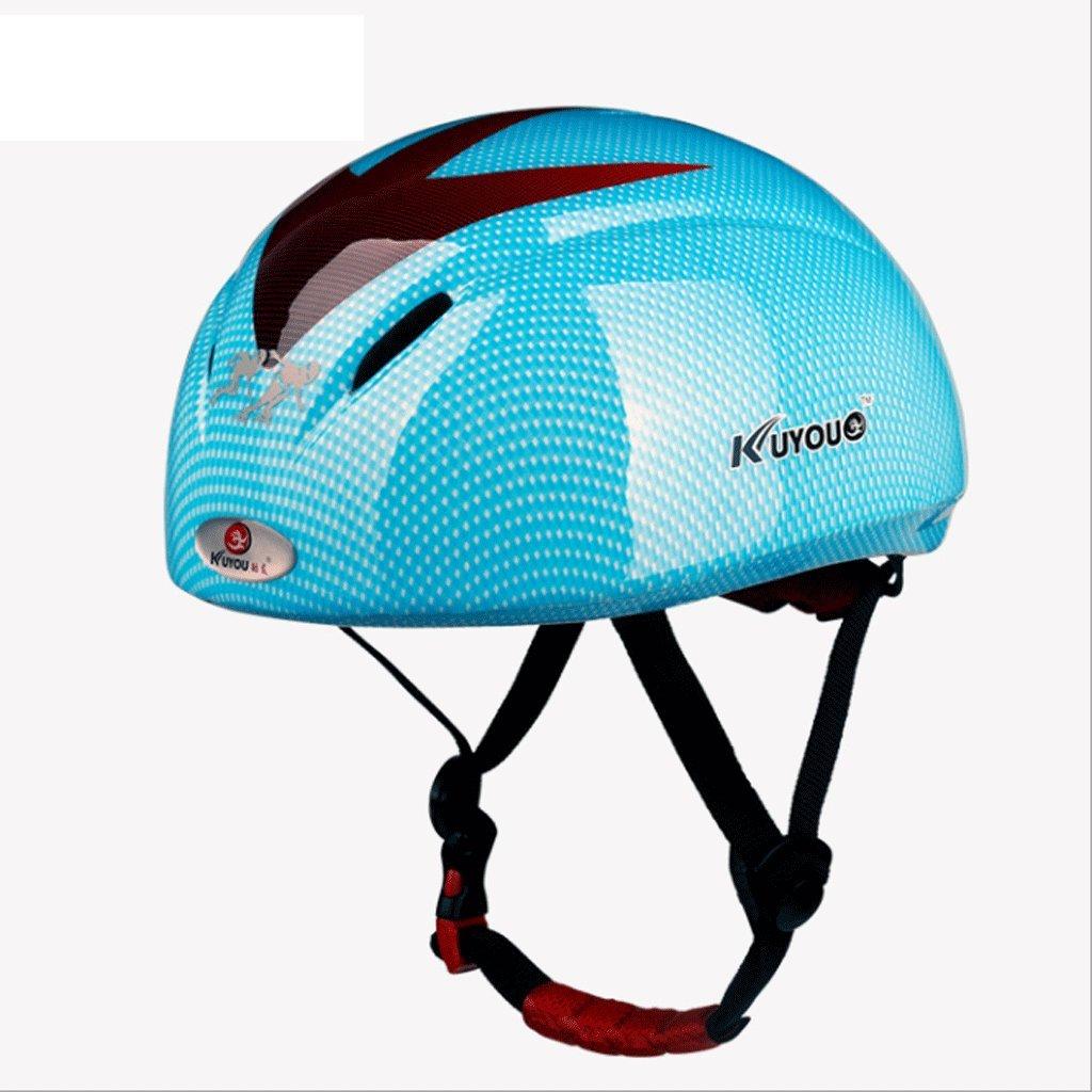DGF ヘルメット高品位男性と女性を形成するスケートボードローラースケート競技ショートトラックスピードスケーターヘルメットスピードスケートヘルメット保護装置 (色 : Blue) B07FTJ27H1 Blue Blue