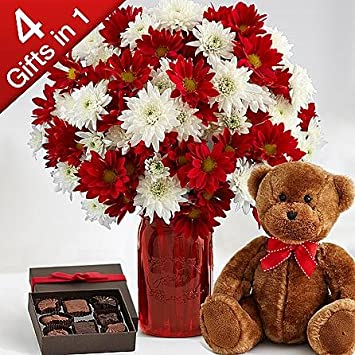 Christmas flower gift baskets