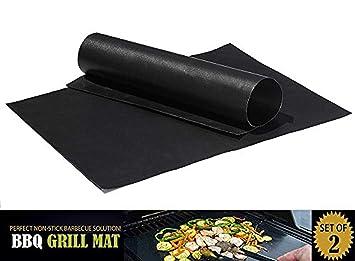 """Grill Mat 2 piezas 13 """"x16"""" non stick pad para Gas Easy Bake"""