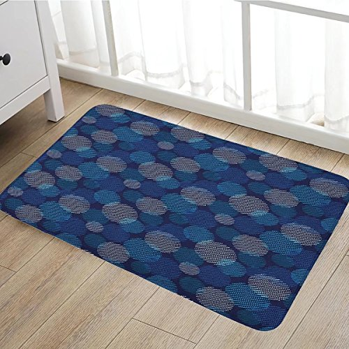 Abstract door mats for home Modern Digital Featured Polka Dots Extravagant Dotted Circles Bath Mat Bathroom Mat with Non Slip16