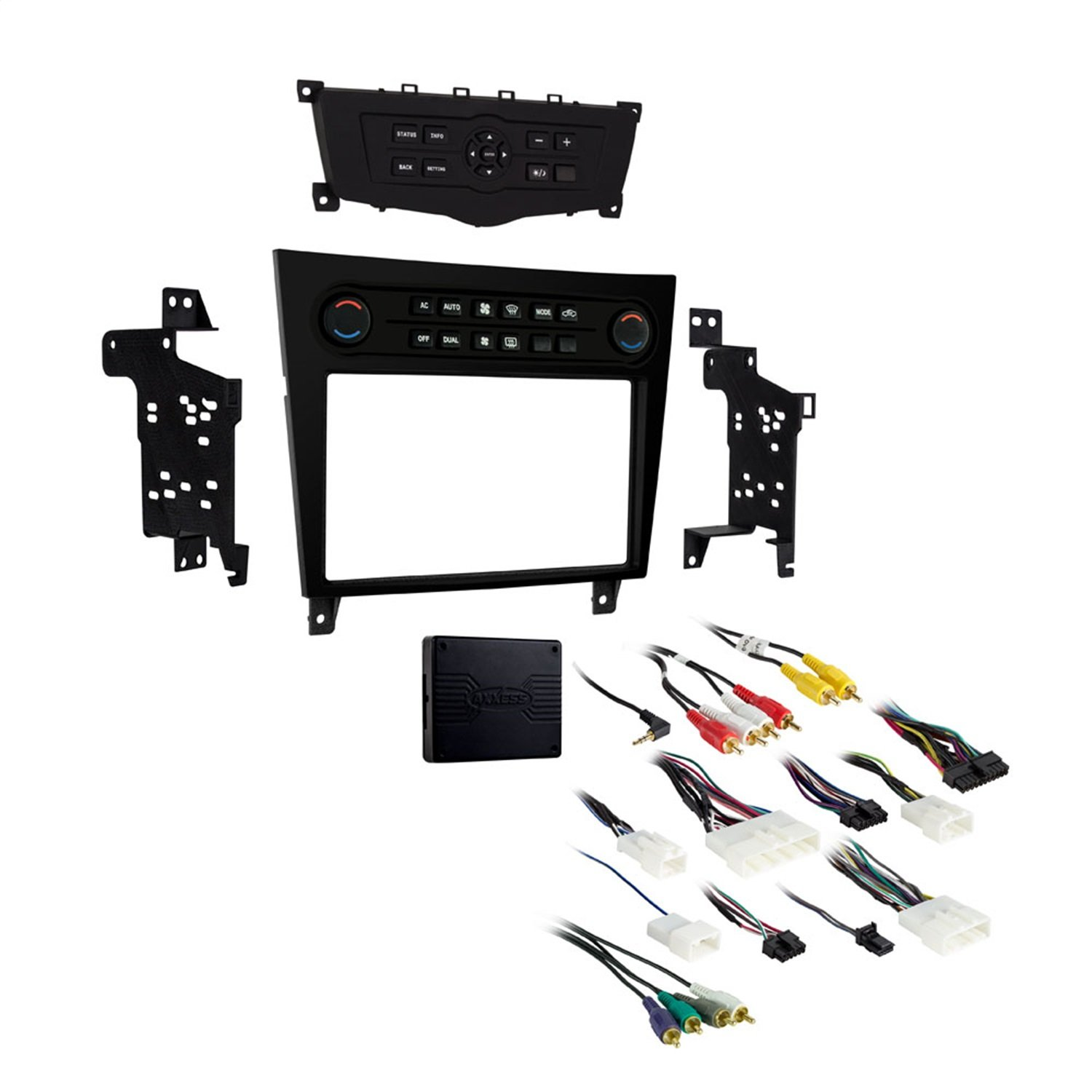Metra 99 7625b Single Double Din Dash Kit For 2008 Infiniti G35 Audio Wiring Diagram 2013 G37 Black Car Electronics