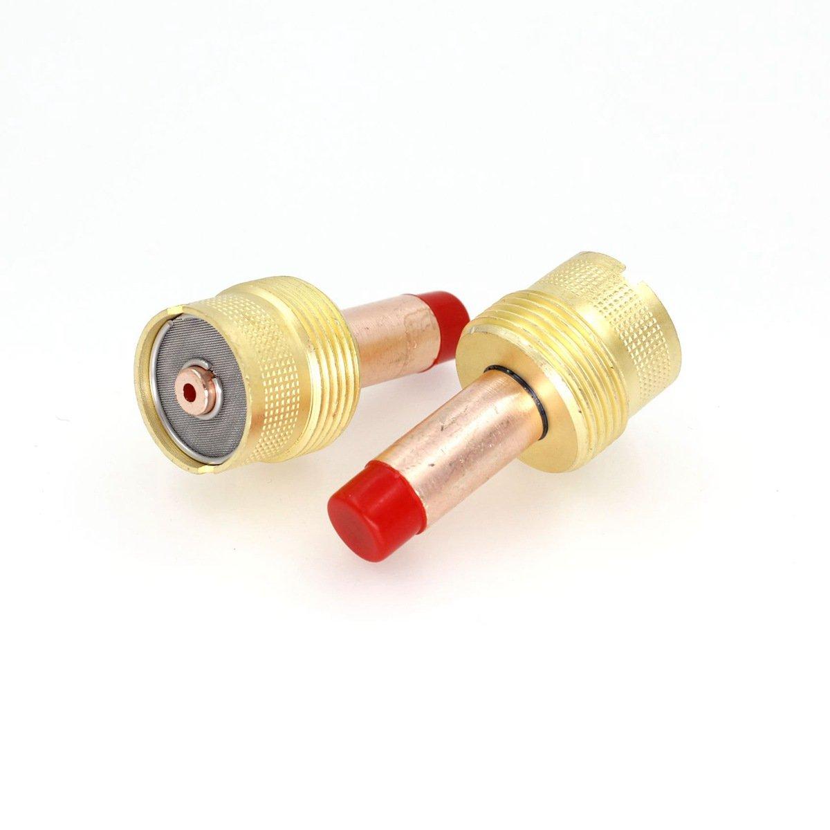 2pcs 45V64 Gas Lens Collet Body Large Diameter 3//32 2.4mm Designed for TIG Welding Torch WP-17 WP-18 WP-26