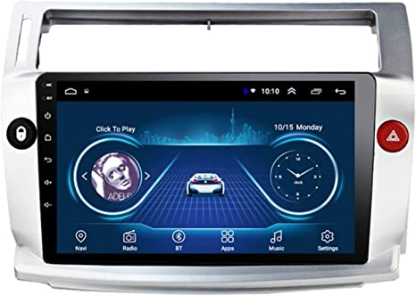 Xmzwd Ips 9 In Gps Navigation Multimedia Player Android 8 1 Car Radio Car Radio For Citroen C4 C Triomphe C Quatre 2004 2009 Support Bluetooth Wifi Usb 2 5d Touch Screen Player Küche Haushalt