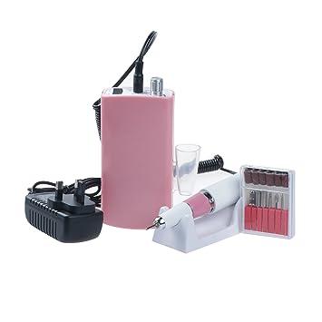 4d9ccbea811 Vinteky 30000RPM Portable Electric Nail Drill File Rechargeable Cordless Manicure  Machine Set  Amazon.co.uk  Beauty