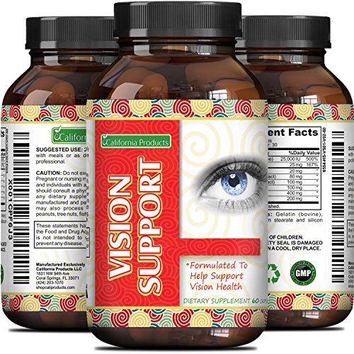 100% Lutein Pills for Healthier Eyes – Improve Vision and...