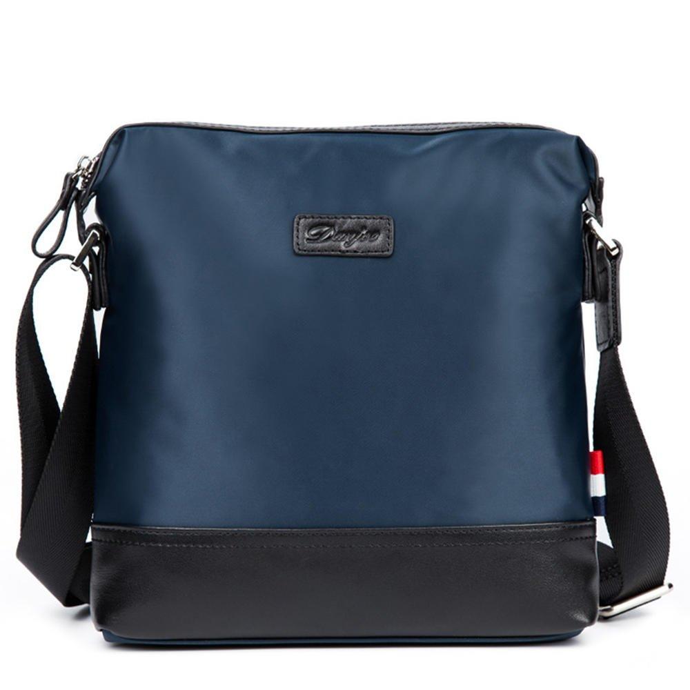 DANJUEファッション新しい防水オックスフォード布ショルダーメッセンジャーバッグカジュアルメンズ布バッグビジネスメンズバッグd8062 – 4 B07F8RRDSJ ブルー Width23cm, height 24cm, thickness 5cm