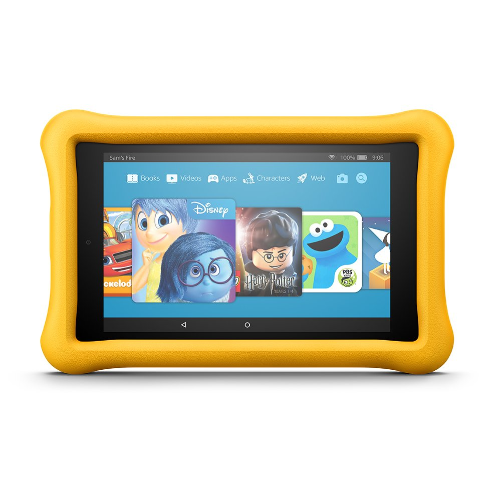 Fire HD 8 Kids Edition Tablet, 8'' HD Display, 32 GB, Yellow Kid-Proof Case