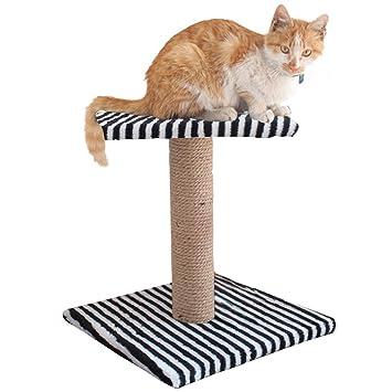 Amazon.com: Aoneky Árbol Rascador para gatos Sisal, Negro y ...