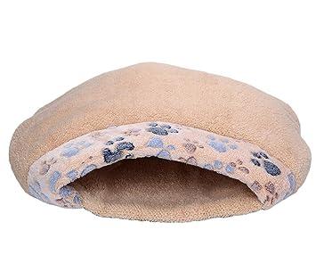 Saco de dormir para gato de mascota, Aolvo invierno bonito y suave patrón de huellas de ...