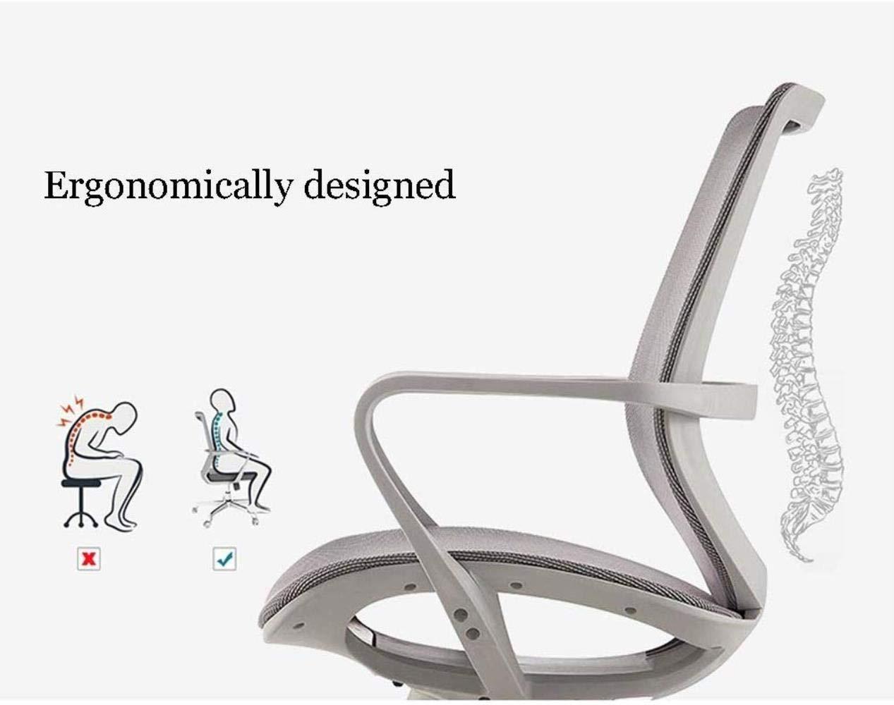 Barstolar Xiuyun kontorsstol spelstol, datorstol uppgift stol passar människokroppen kurva S ett stycke ryggstöd svängbar stol konferenshall arbetsstol (färg: svart) Orange
