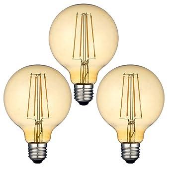 Bombillas LED de estilo vintage, rosca E27 filamento Edison, 4 W (equivalente a