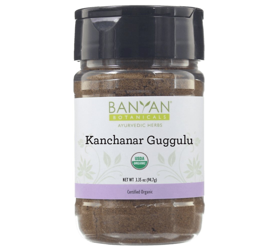Banyan Botanicals Kanchanar Guggulu - USDA Organic Spice Jar- Energizing Ayurvedic Herbs for Thyroid & Lymphatic Wellness*