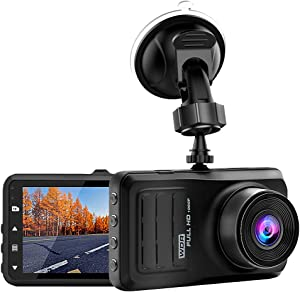 ROSON Dash Cam 1296P FHD DVR Car Driving Recorder 3 Inch IPS Screen 170° Wide Angle, Night Vision, WDR, G-Sensor, Loop Recording, Motion Detection, Parking Monitor