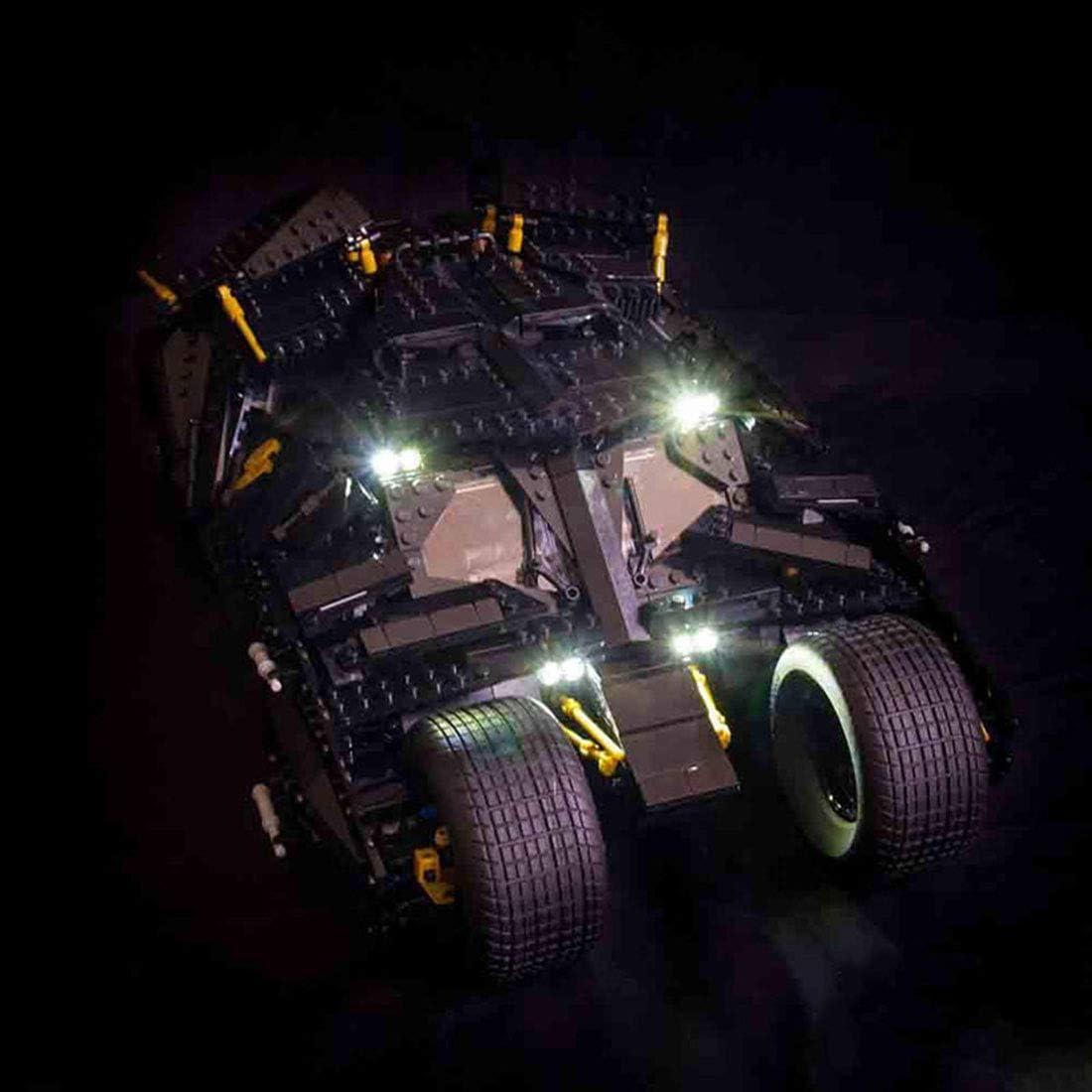 LED Light Kit ONLY For Lego 76023 The Tumbler Batman Blue Lighting Bricks