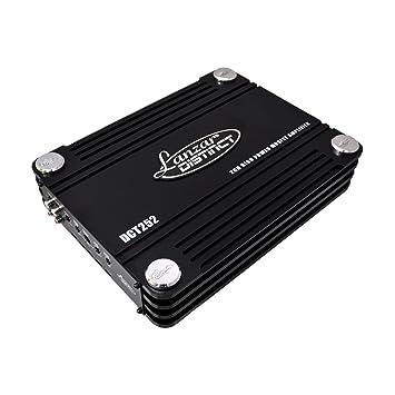 Lanzar DCT252 3000W Amplificador FET Completo de Clase AB con 2 Canales: Amazon.es: Instrumentos musicales