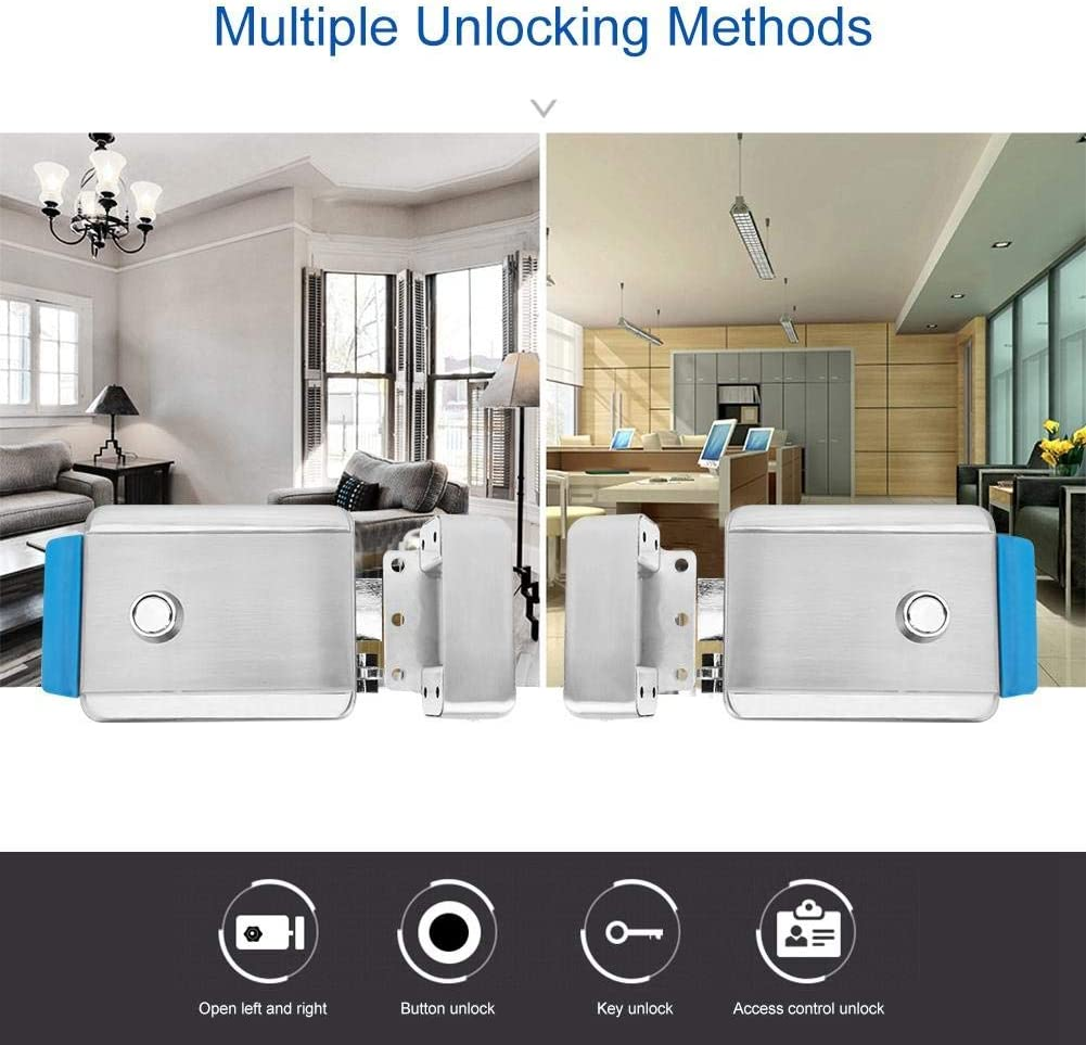 Single-Head Electric Control Door Lock Anti-Theft Security Lock for Access Entry Right Positive Electric Lock Door Lock Electric Control Lock