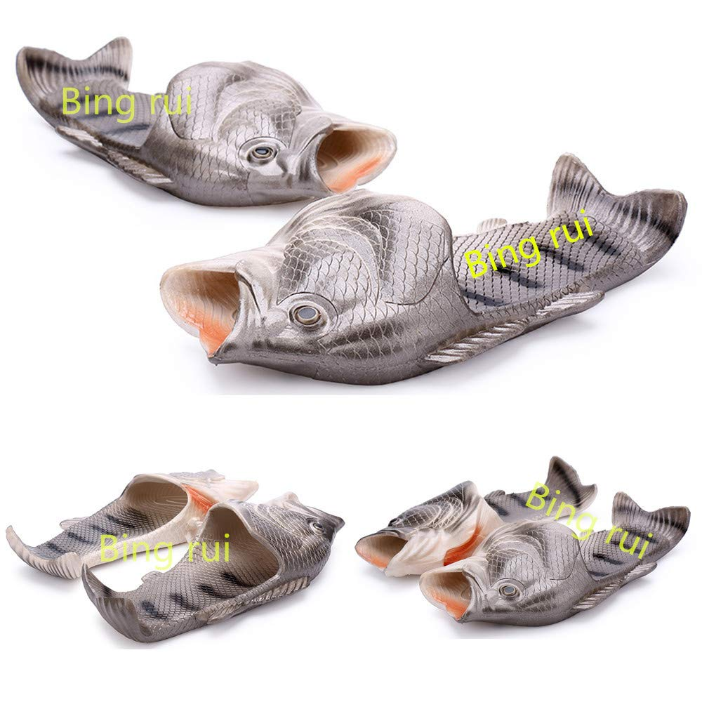 861819ed7 Amazon.com  BING RUI CO 5 Colours Fish Slippers Beach Shoes Non-Slip Sandals  Creative Fish Slippers Men and Women Casual Shoe  Sports   Outdoors