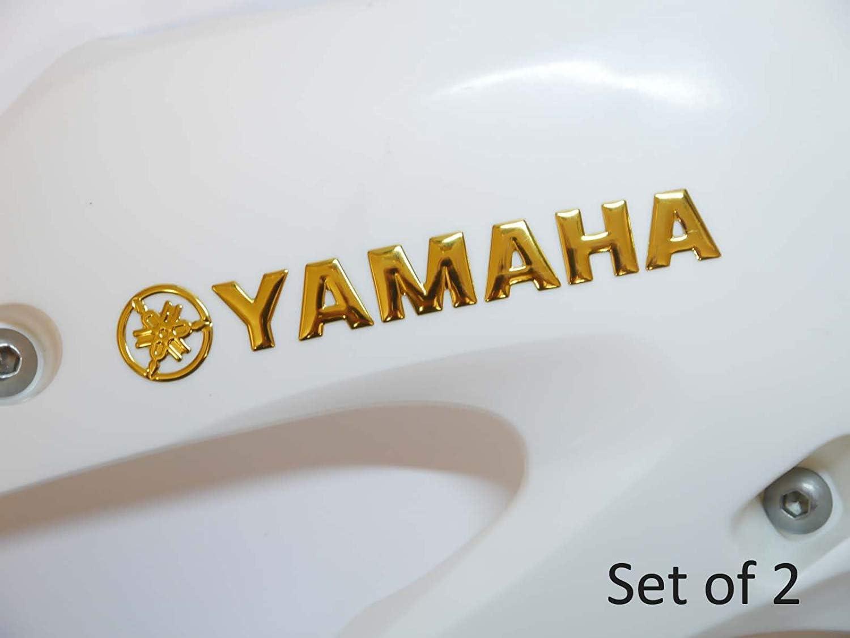 145x20mm Gold Yamaha Motorbike Badge Emblem Motorcycle Fuel Petrol Tank Decal Stickers