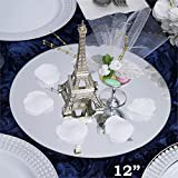 Tableclothsfactory 12'' Round Glass Mirror Wedding Party Table Decorations Centerpieces - 4 PCS