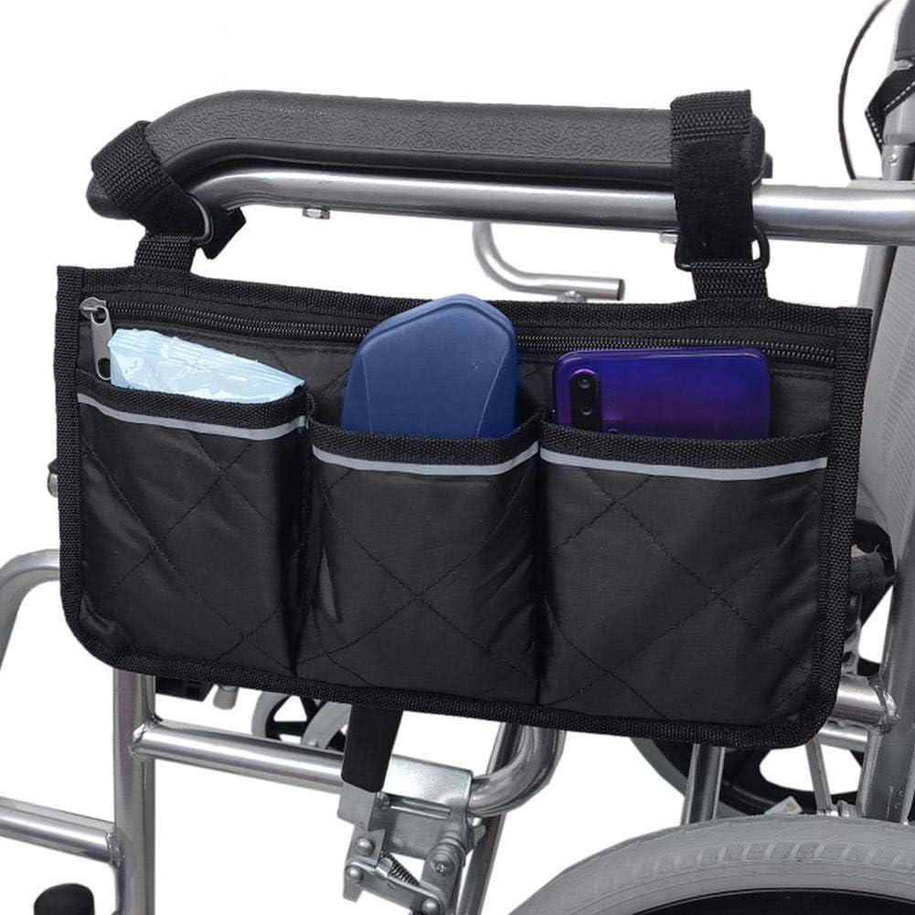 Chuanfeng Bolsa Lateral para Silla de Ruedas con Bolsas: Ideal para sillas de Ruedas eléctricas, Scooter eléctrico, Accesorios de Andador, Otros Dispositivos de Movilidad: Bolsa de constructive