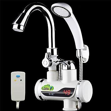 3000W Elektrisch Durchlauferhitzer Wasserhahn LED Digitalanzeige Küche Armatur