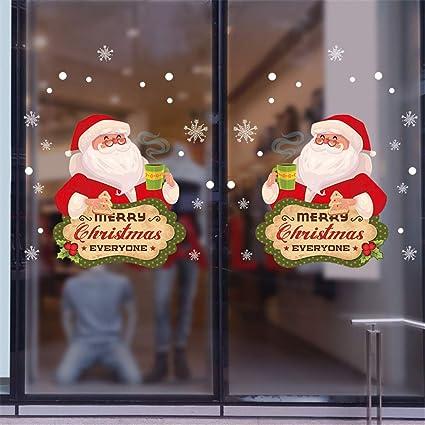 Adesivi Buon Natale.Theshy 2019 Buon Natale Household Wall Sticker Murale Decor