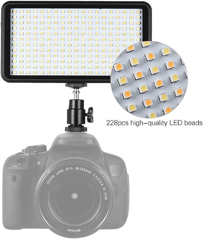 F/üllleuchte tragbare Kamera-Fotoleuchte universelle Mini-Fotografie-DSLR-Kamera LED-Videoleuchte ZAK168 LED-Videoleuchte