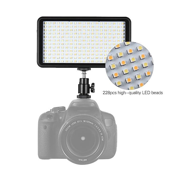 Paneld e Luz LED Andoer Antorcha Led Video 228pcs Ultra Fino 3200K ...