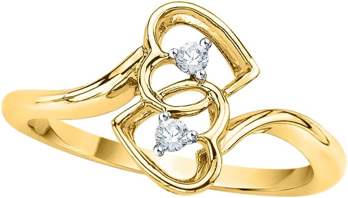 1//20 cttw, 3 Diamond Promise Ring in 14K White Gold Size-11.75 G-H,I2-I3